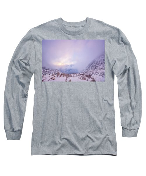 Winter Morning Light Tuckerman Ravine Long Sleeve T-Shirt