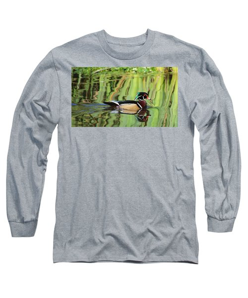 Wood Duck Reflection 2 Long Sleeve T-Shirt