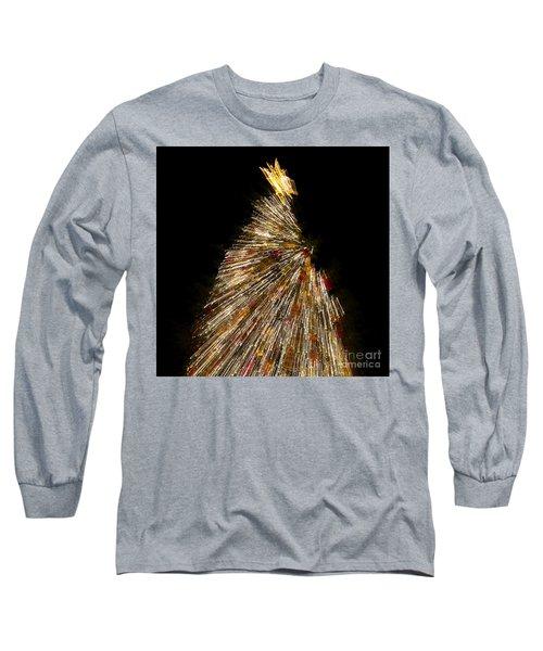 Xmas Tree Motion Art Long Sleeve T-Shirt