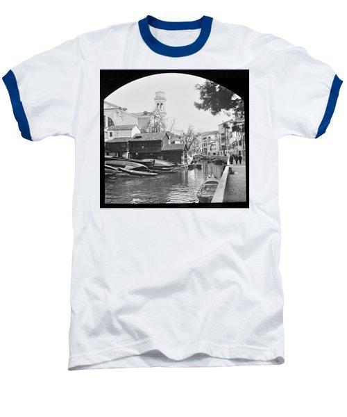Baseball T-Shirt featuring the photograph Pegnitz River Nuremberg Germany 1903 by A Gurmankin