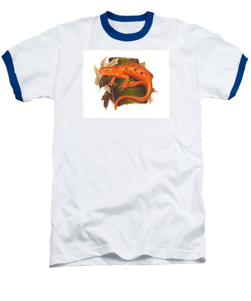 Red Eft Baseball T-Shirt by Cindy Hitchcock