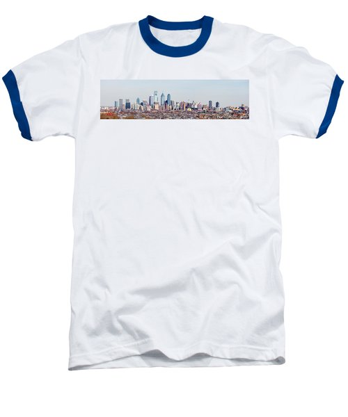 Buildings In A City, Comcast Center Baseball T-Shirt by Panoramic Images