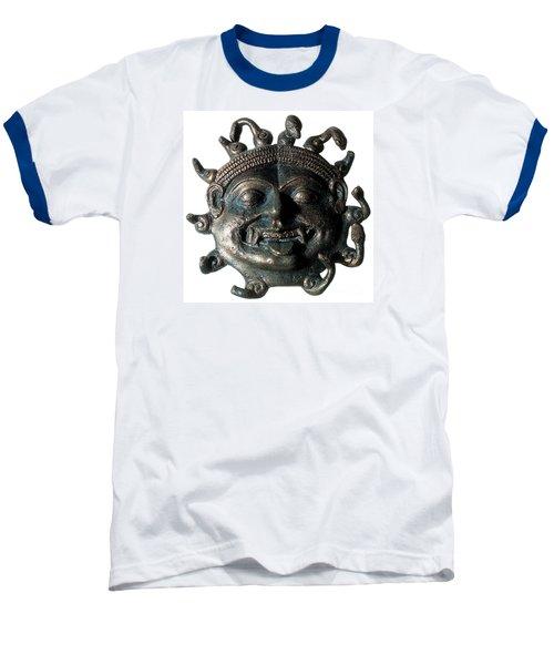 Gorgon Legendary Creature Baseball T-Shirt by Photo Researchers