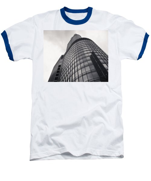 Trump Tower Chicago Baseball T-Shirt by Adam Romanowicz