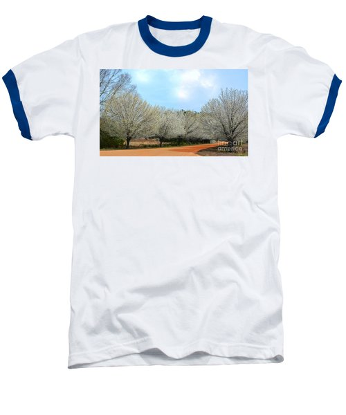 Baseball T-Shirt featuring the photograph A Touch Of Spring by Kathy Baccari