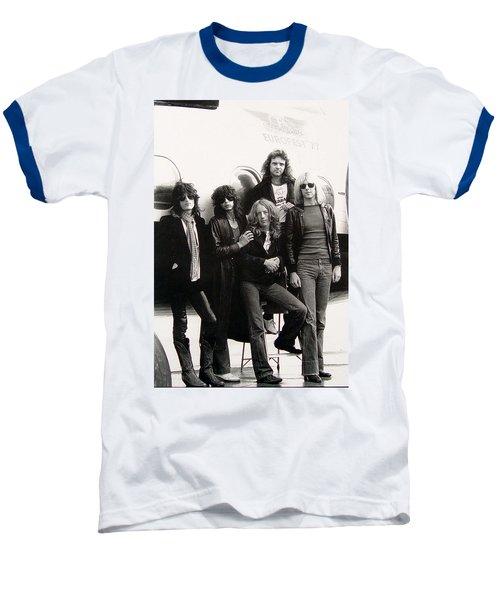 Aerosmith - Eurofest Jet 1977 Baseball T-Shirt by Epic Rights