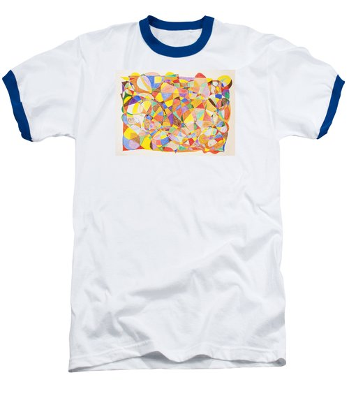 Baseball T-Shirt featuring the painting Alternate Realities by Stormm Bradshaw