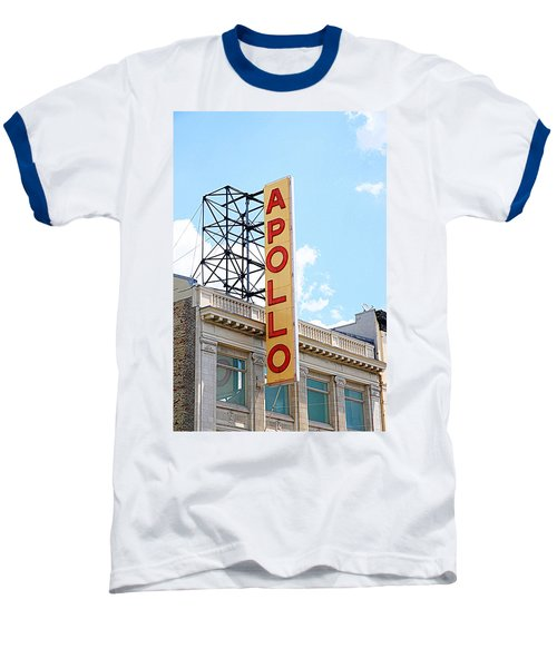 Apollo Theater Sign Baseball T-Shirt by Valentino Visentini