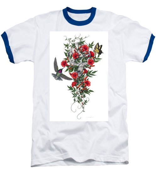 Baseball T-Shirt featuring the painting Beneath Summer's Promise by Pat Erickson
