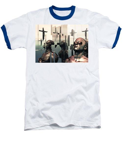 Baseball T-Shirt featuring the digital art Blind Reflections by John Alexander