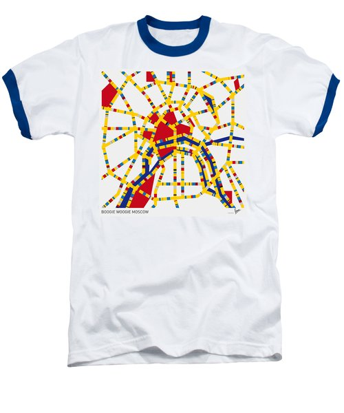 Boogie Woogie Moscow Baseball T-Shirt by Chungkong Art
