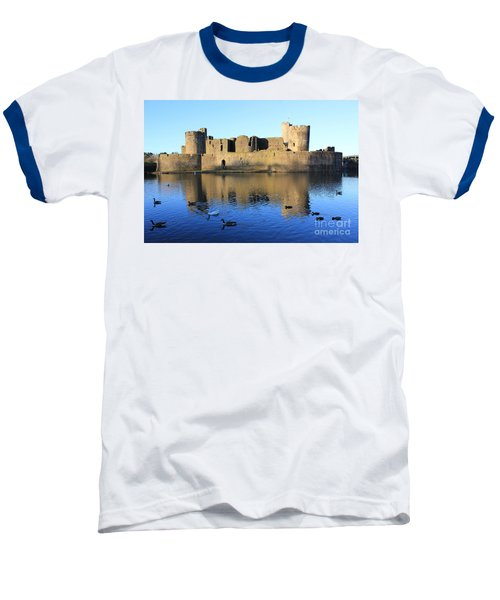 Baseball T-Shirt featuring the photograph Caerphilly Castle by Vicki Spindler