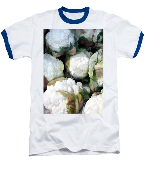 Cauliflower Bouquet Baseball T-Shirt by Elaine Plesser