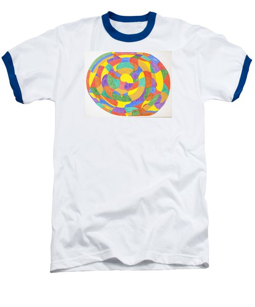 Baseball T-Shirt featuring the painting Life Cycles by Stormm Bradshaw
