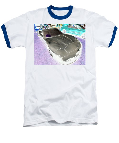 Baseball T-Shirt featuring the photograph Corvette 2003 50th Anniv. Edition by John Schneider