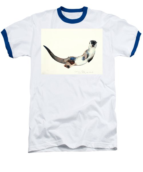 Curious Otter Baseball T-Shirt by Mark Adlington