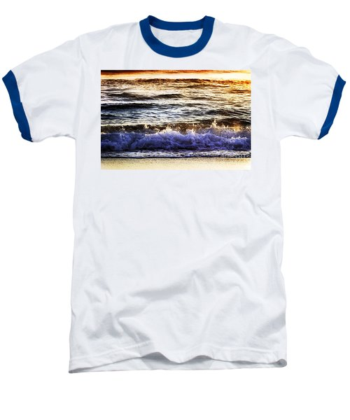 Baseball T-Shirt featuring the photograph Early Morning Frothy Waves by Amyn Nasser