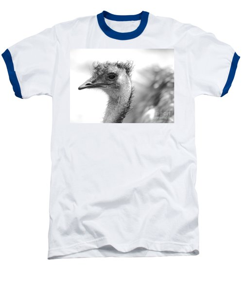 Emu - Black And White Baseball T-Shirt by Carol Groenen