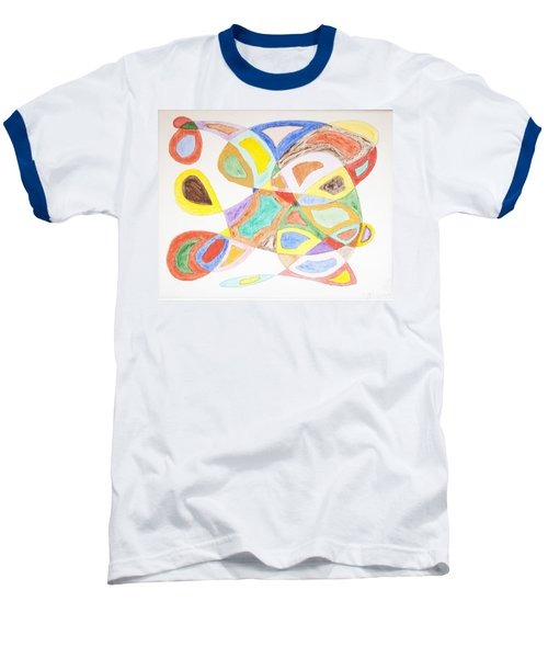 Baseball T-Shirt featuring the painting Masks by Stormm Bradshaw