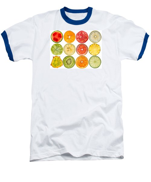 Fruit Market Baseball T-Shirt by Steve Gadomski