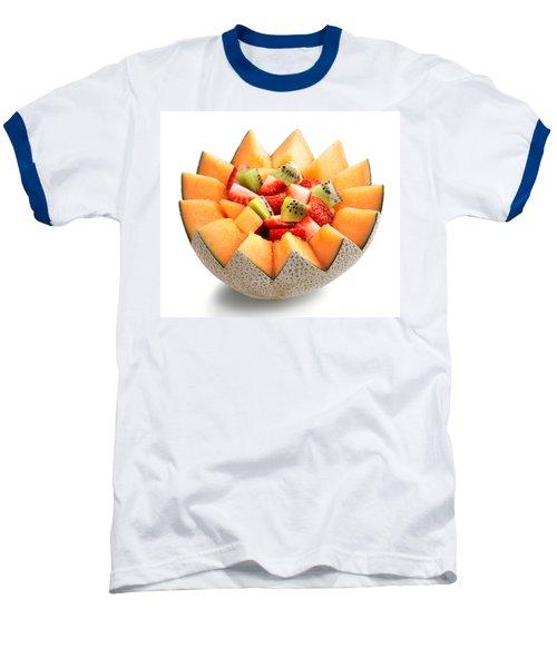 Fruit Salad Baseball T-Shirt by Johan Swanepoel