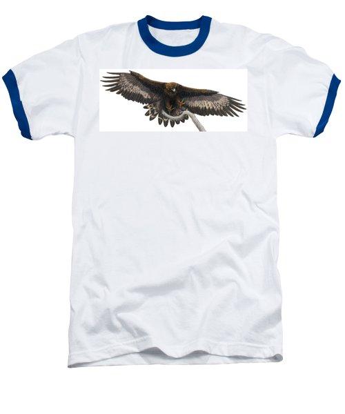 Baseball T-Shirt featuring the painting Golden Landing by Pat Erickson