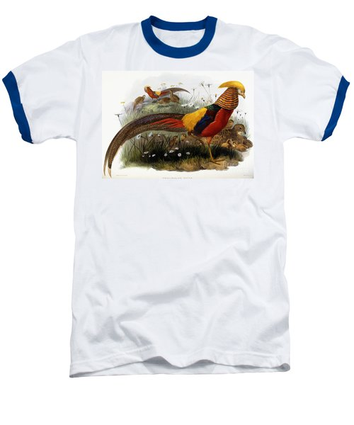 Golden Pheasants Baseball T-Shirt by Joseph Wolf