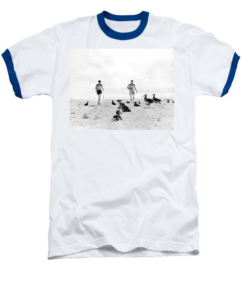Golf With Gooney Birds Baseball T-Shirt by Underwood Archives