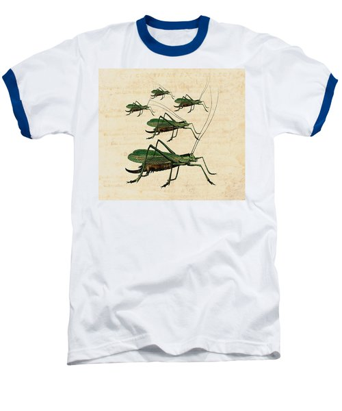 Grasshopper Parade Baseball T-Shirt by Antique Images