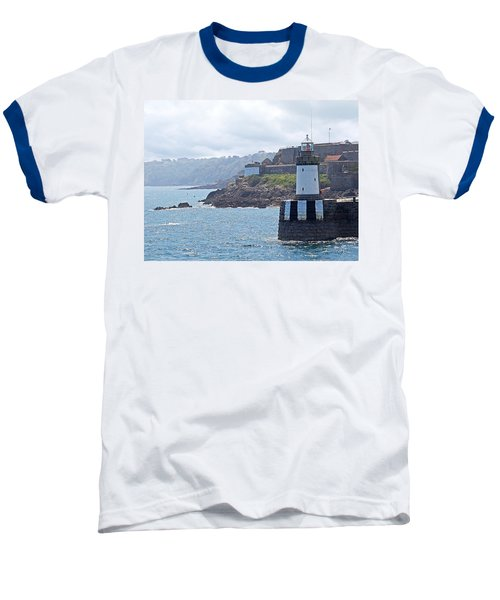Guernsey Lighthouse Baseball T-Shirt by Gill Billington