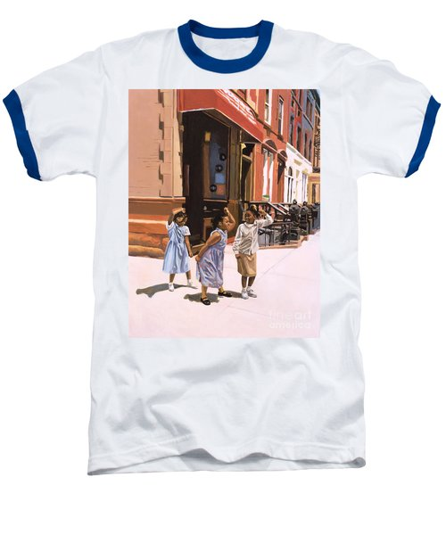 Harlem Jig Baseball T-Shirt by Colin Bootman