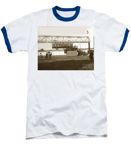 Baseball T-Shirt featuring the photograph Incredible Hanging Railway  1900 by California Views Mr Pat Hathaway Archives