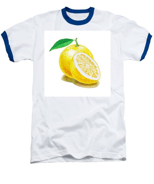 Juicy Grapefruit Baseball T-Shirt by Irina Sztukowski