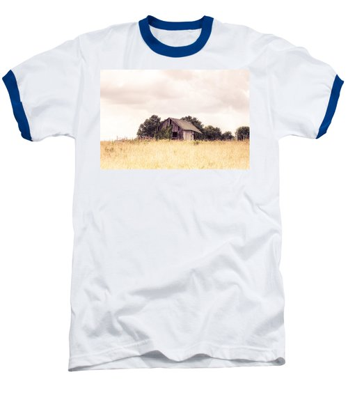 Baseball T-Shirt featuring the photograph Little Old Barn In A Field - Landscape  by Gary Heller