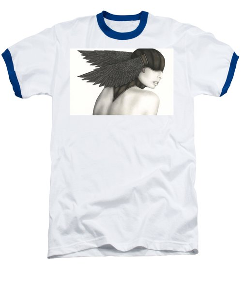 Baseball T-Shirt featuring the painting Nevermore by Pat Erickson