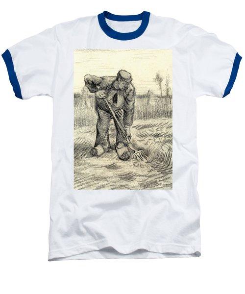 Potato Gatherer Baseball T-Shirt by Vincent Van Gogh