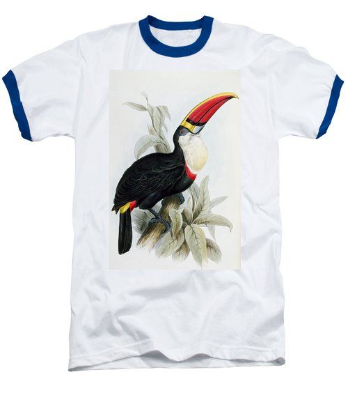 Red-billed Toucan Baseball T-Shirt by Edward Lear