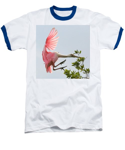Rough Landing Baseball T-Shirt by Carol Groenen