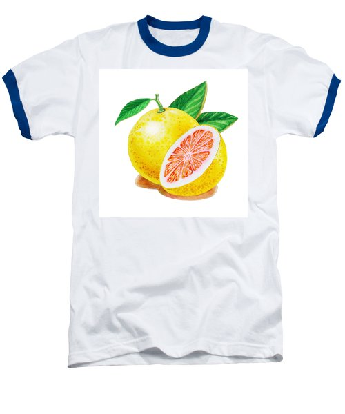 Ruby Red Grapefruit Baseball T-Shirt by Irina Sztukowski