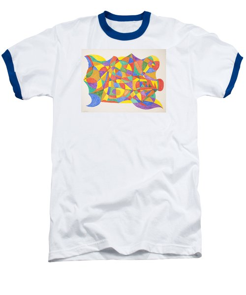 Baseball T-Shirt featuring the painting Space Craft by Stormm Bradshaw