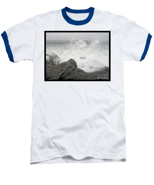 Baseball T-Shirt featuring the photograph Splash And Gray by Glenn McCarthy Art and Photography