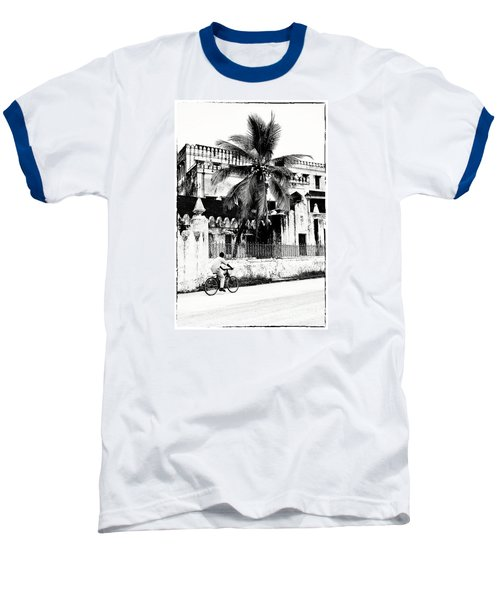 Baseball T-Shirt featuring the photograph Tanzania Stone Town Unguja Historic Architecture - Africa Snap Shots Photo Art by Amyn Nasser