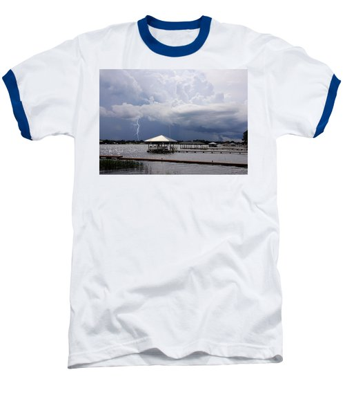 Baseball T-Shirt featuring the photograph Storm Over Clay Lake by Rosalie Scanlon