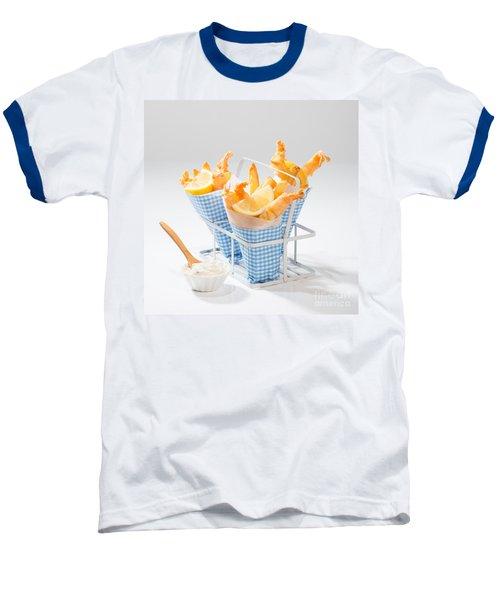 Tempura Prawns Baseball T-Shirt by Amanda Elwell