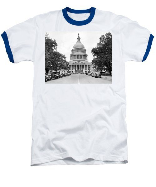 The Capitol Building Baseball T-Shirt by Underwood Archives