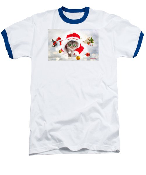 Baseball T-Shirt featuring the photograph Three Christmas Kittens by Chris Armytage