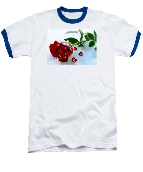 Baseball T-Shirt featuring the mixed media To Make You Feel My Love by Morag Bates