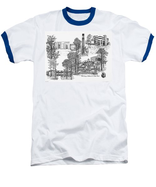 University Of Arkansas Baseball T-Shirt by Liz  Bryant