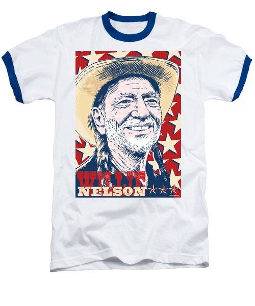 Willie Nelson Pop Art Baseball T-Shirt by Jim Zahniser