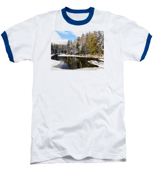 Baseball T-Shirt featuring the photograph Winter Impressions ... by Juergen Weiss